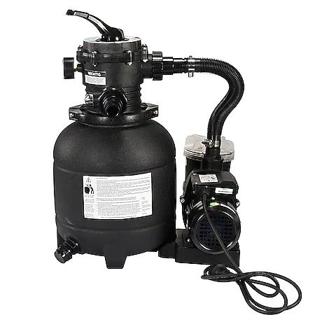 Sandfilteranlage Atrox mit 7-Wege Ventil, Manometer, max. 250 Watt | 4500 Liter / Stunde Sandfilter, 7500 Liter / Stunde Pumpe