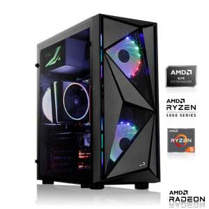 Gaming PC (Ryzen 5 5600X, 16GB RAM, 500GB Kingston A2000 NVMe SSD, RX 6700 XT OC, MSI B550-A Pro, SQ-WHITE Silent 850W)