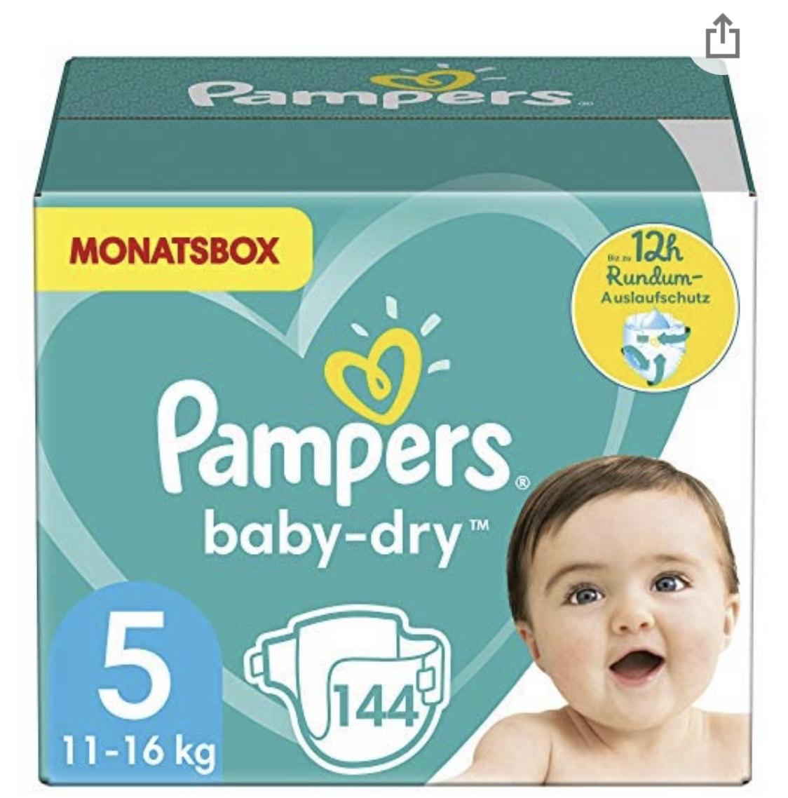 Pampers Windeln Baby-Dry Größe 5 Monatsbox (personalisierter Gutschein)