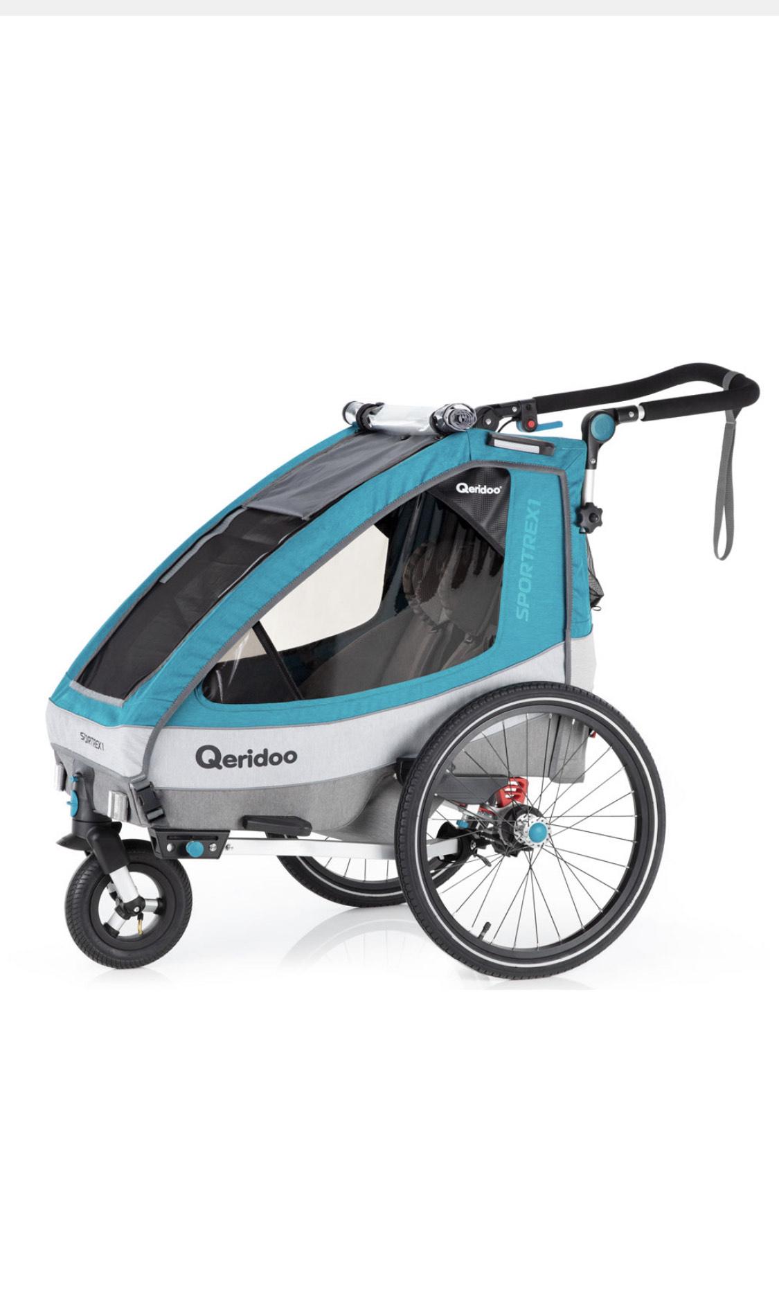 Qeridoo Sportrex1 Petrol Kinderanhänger