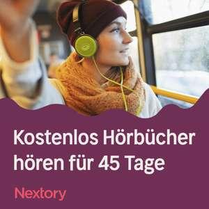 [nextory] 45 Tage gratis nutzen (Einzel- & Familienabo) - unbegrenzt Hörbücher und E-Books (Alternative zu Audible & Co.)