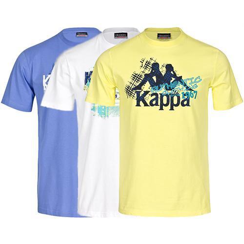 KAPPA Herren T-Shirt Shirt Tee gelb weiß oder blau S M L XL XXL für 9,99 statt 24,90