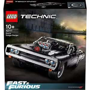 LEGO 42111 Technic The Fast and the Furious Dom's Dodge Charger, Konstruktionsspielzeug