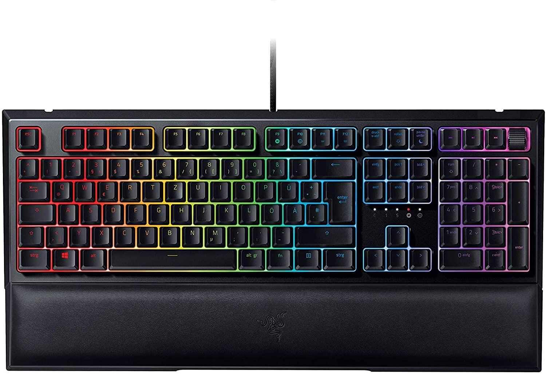 Razer Ornata V2 - Gaming Tastatur mit mecha-membranen Hybrid-Schaltern (Multifunktionaler Drehregler und Medientasten