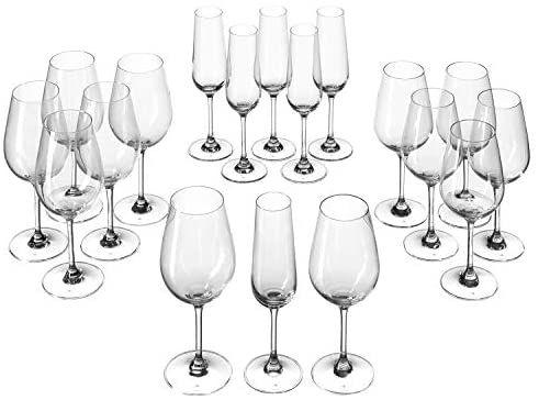 Leonardo Tivoli Kelch-Glas Set, Weißwein-, Rotwein- und Sekt-Gläser, 18er Set, Globus Supermarkt
