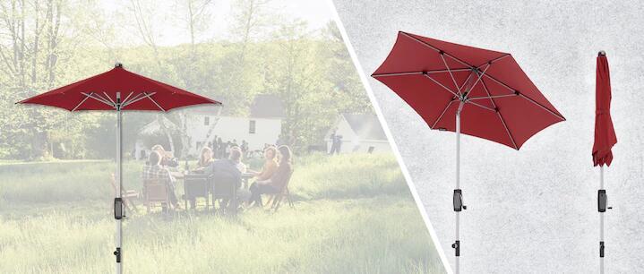 """[ Gartenfachmarkt.24.de ] Knirps Sonnenschirm """"Silver Manual 220"""" / Spannweite / Durchmesser: 220 cm / 4 verschiedene Farben"""