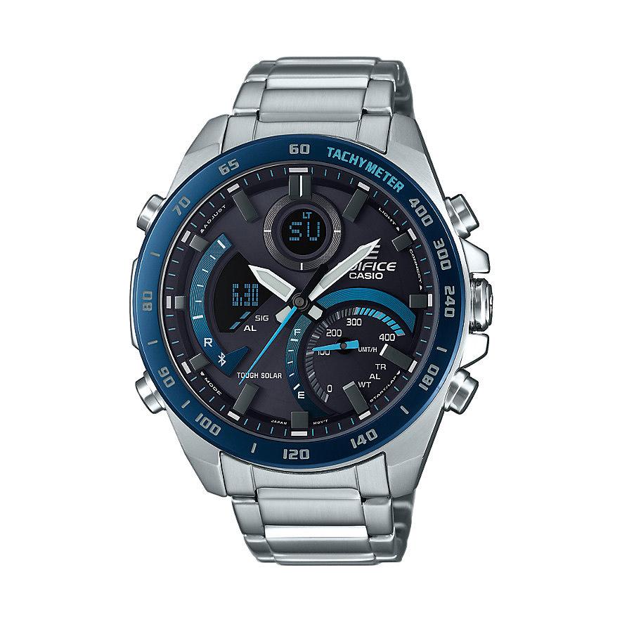 Casio Edifice Premium Herrenuhr Chronograph Mineralglas Edelstahl