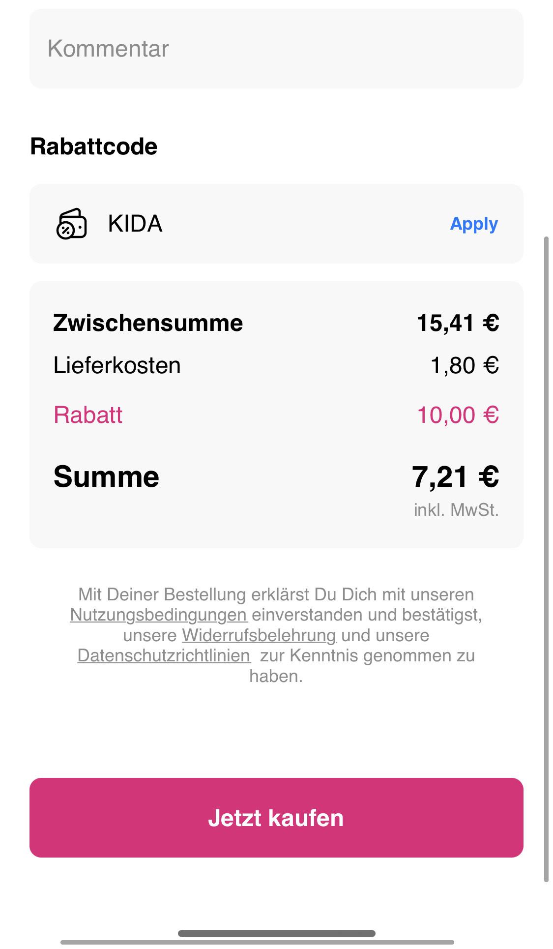10€ Rabatt bei FLINK (15€ MBW)