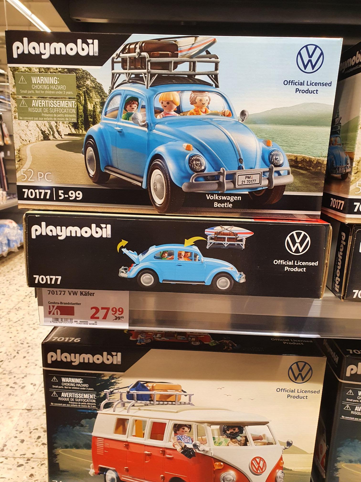 (Globus Hockenheim) Playmbobil 70177 (VW Käfer) 27.99 und 70167 (VW Bus) 34.99