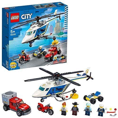 LEGO 60243 City Verfolgungsjagd mit dem Polizeihubschrauber, Quad, Motorrad und Pickup, Bausets für Kinder ab 5 Jahren [Amazon Marketplace]