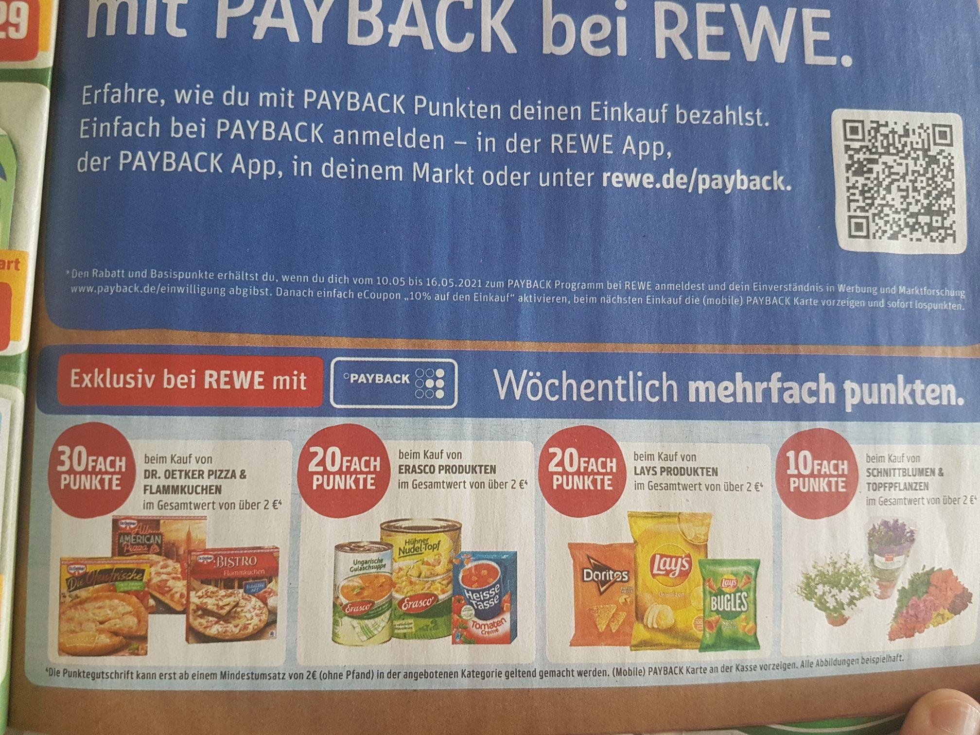 [REWE] Extra Payback-Punkte sammeln bei Rewe