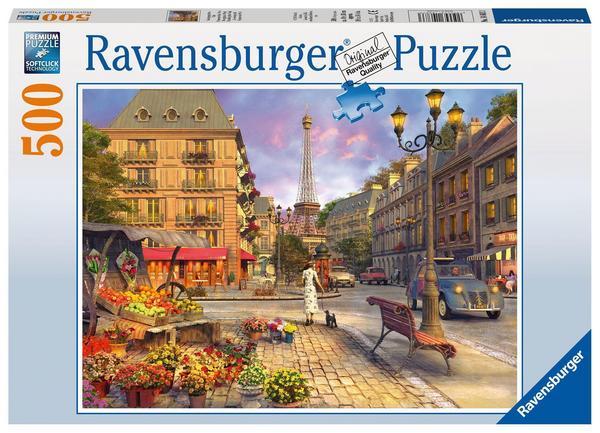 [Thalia KULTCLUB/amazon PRIME] Ravensburger Puzzle 500 Teile Spaziergang durch Paris (für Erwachsene und Kinder ab 10 J., mit Stadt-Motiv)