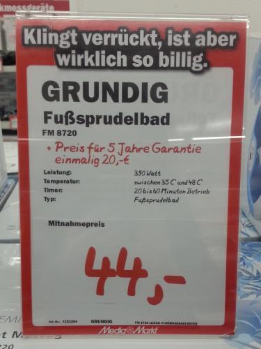 [Lokal Berlin] MM Alexa - Grundig FM 8720 Fußsprudelbad - 44 Euro