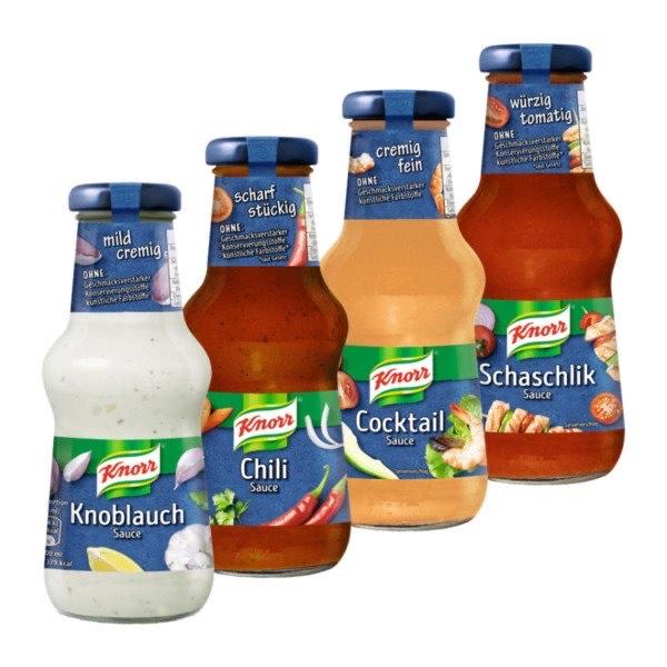 [Netto] 6x 250 ml Knorr Feinkost-Sauce sortiere selbst bunt gemischt