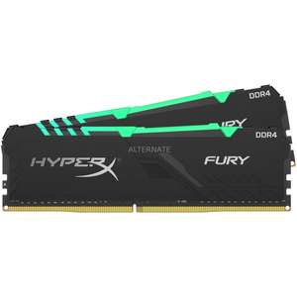 Kingston HyperX Fury RGB DIMM Kit 32GB, DDR4-3200, CL16-20-20 (Amazon 149,90€ ab 19.05)