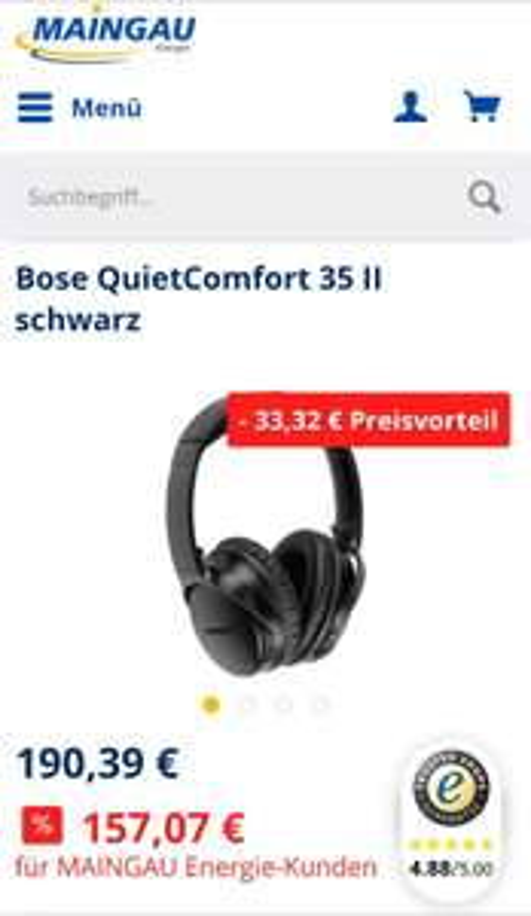 [Maingau Energie] Bose QuietComfort 35 II schwarz