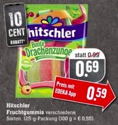 Hitschler Bunte Drachenzungen für 0,59 Euro mit Edeka APP