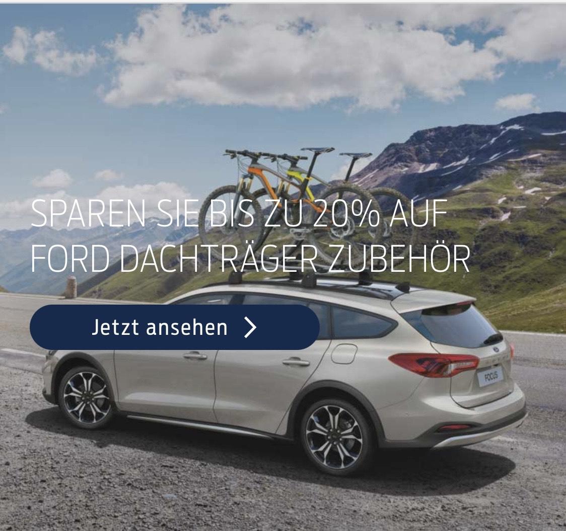 20% Rabatt auf Dachträger bei Ford