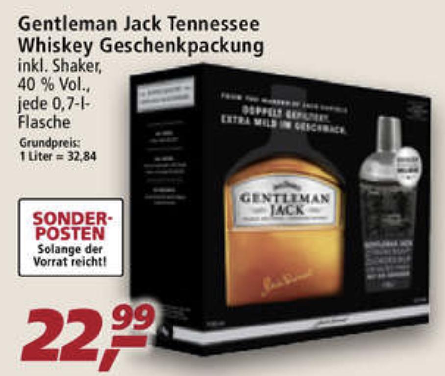 Jack Daniels Gentleman Jack inkl. Shaker Limited Edition Geschenkset für 22,99€ im Real Markt (bundesweit)