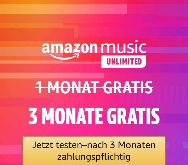 Nur für kurze Zeit: Amazon Music Unlimited - 3 Monate GRATIS