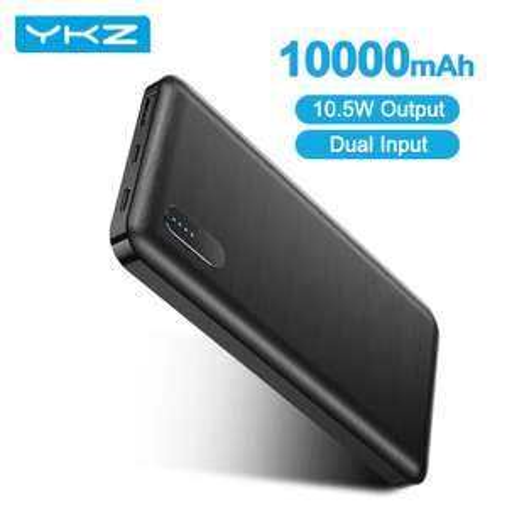 2 Stück 10000mAh Powerbank YKZ 5V/2A, Micro USB / USB-C Eingang, USB-A Ausgang aus Polen