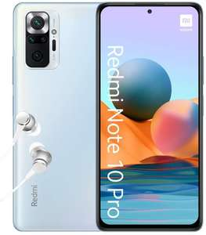 "Xiaomi Redmi Note 10 Pro 6,67"" FHD+ 120Hz AMOLED Dual-SIM 6/64GB (Snapdragon 732G, 336K AnTuTu, 5.020 mAh, 108 MP Quad-Cam, NFC, USB-C)"