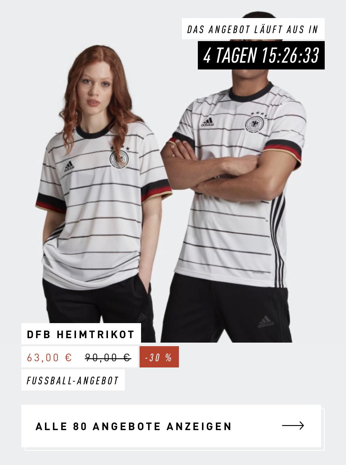 DFB Heimtrikot (personalisierbar) | Adidas (über die Adidas App)