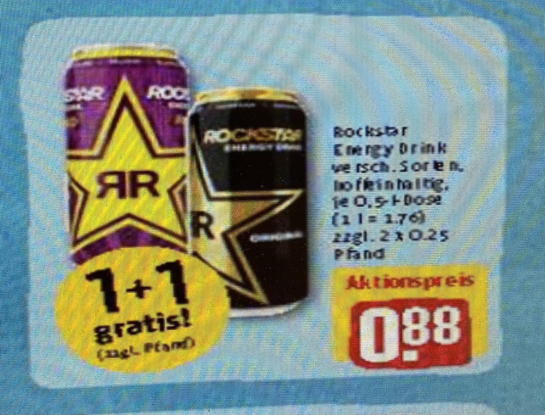 KW 20 (17.5-22.5) REWE *Bundesweit 2 Dosen Rockstar Energy ver. Sorten 0,5l zum Preis von 0,88€ zzgl. 0,50€ Pfand