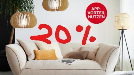 App-Aktion: exklusiv in der OTTO-App - 20% auf Sofas und Lampen