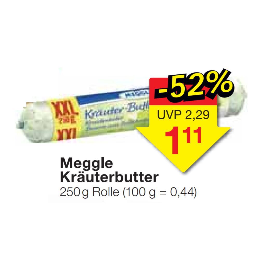 [JAWOLL] Meggle Kräuterbutter XXL 250g für 1,11€