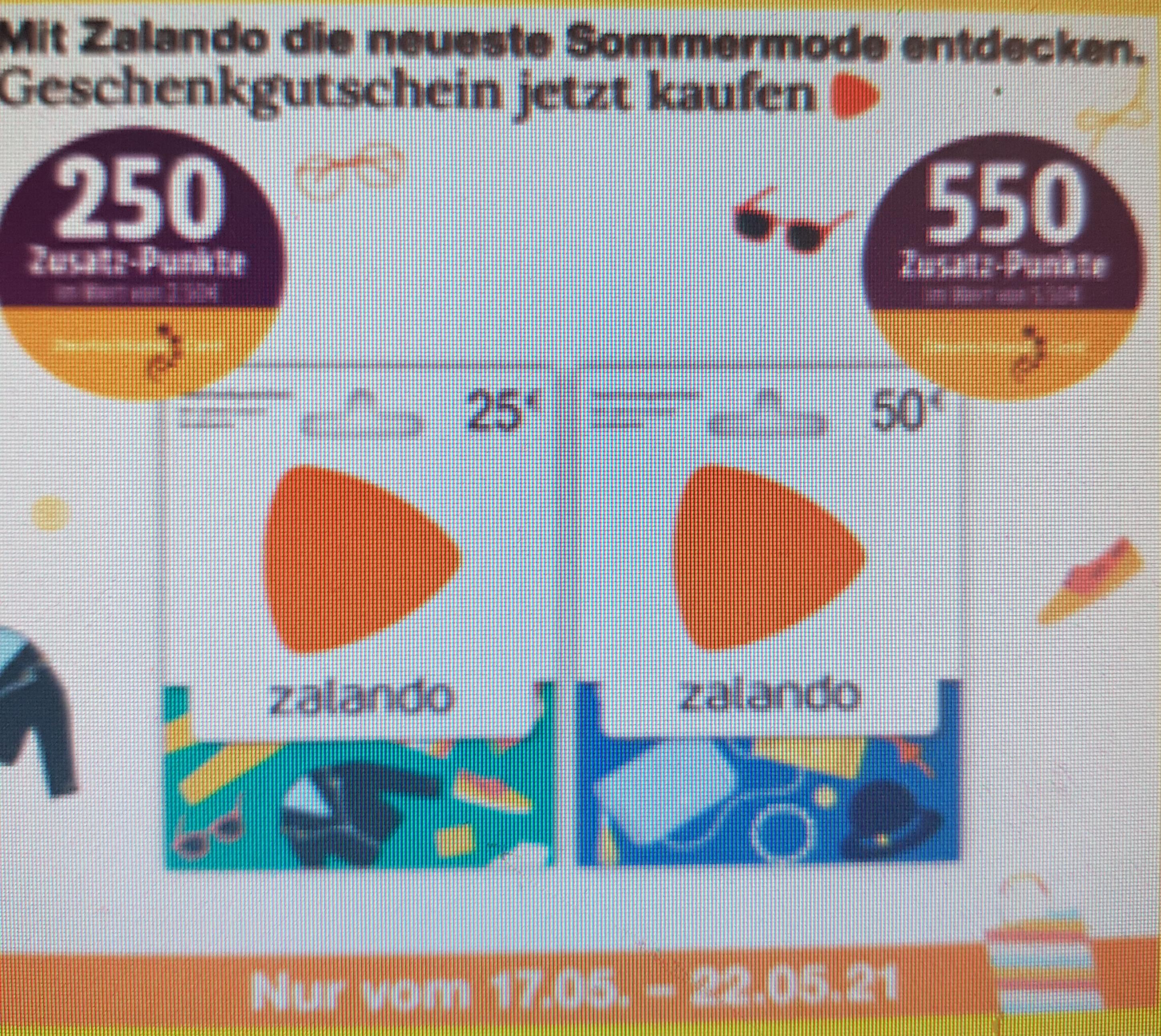 Zalando 50€ Gutscheinkarte +550 Deutschland Card Punkte bei Netto MD