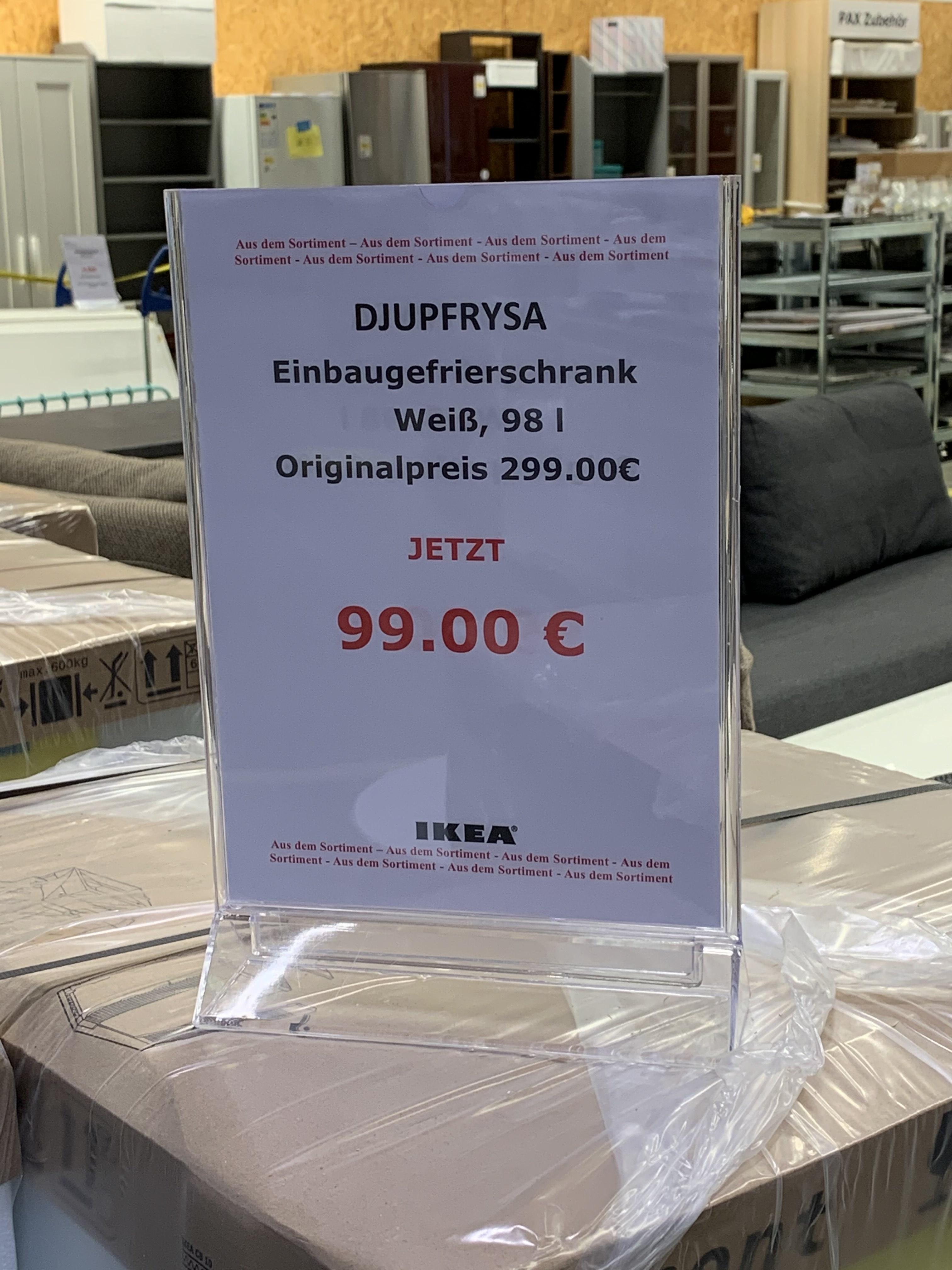 Lokal IKEA Osnabrück Fundgrube DJUPFRYSA Einbau- Gefrierschrank