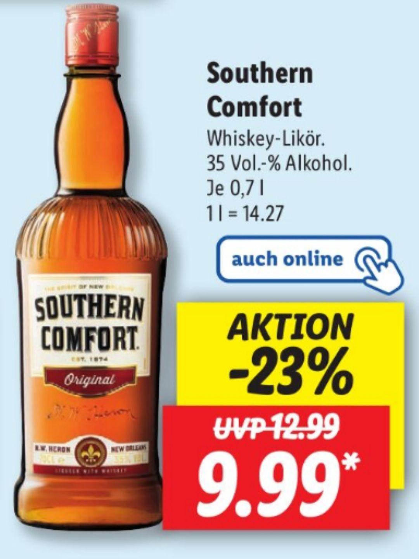 Southern Comfort Whiskey - Likör 35% 0,7 l ab 12.05 Lidl