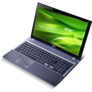 "Acer Aspire V3-571G 15,6"" Notebook (Intel Core i7 3630QM, 2,4GHz, 16GB RAM, 1TB HDD, NVIDIA GT 730M, Blu-ray, Win 8) grau"