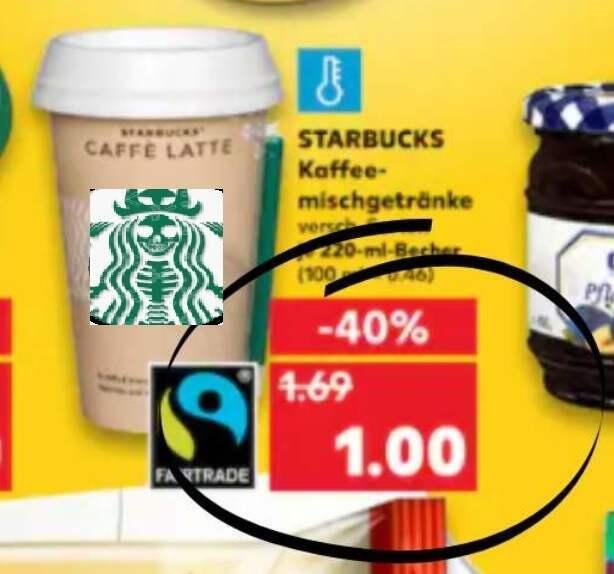 STARBUCKS Kaffee Milchgetränk auf Latte usw. mit Coupon nur 30 Cent unbegrenzt
