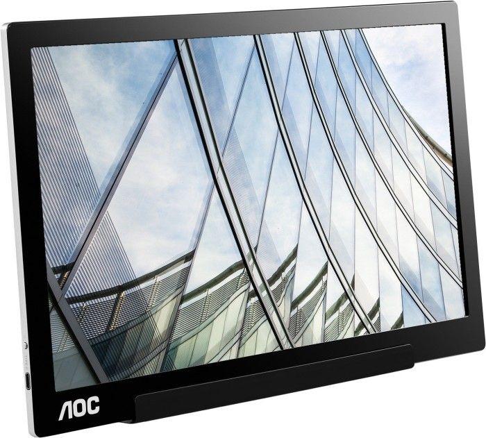 """AOC i1601FWUX - 15,6"""" tragbarer FHD USB-C Monitor (IPS, 5 ms, 60 Hz, USB-C mit DisplayPort, Auto-Pivot, inkl. Standfuß mit Klappfunktion)"""