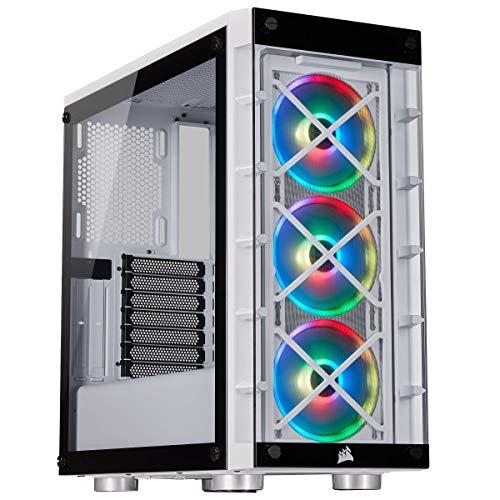 Corsair iCUE 465X RGB ATX-Gehäuse (Seiten und Frontscheibe aus gehärtetem Glas, 3 integrierte 120mm RGB Lüfter)
