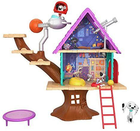 Mattel - Disney Das Haus der 101 Dalmatiner, Dylans Baumhaus Spielset mit Dylan und Dolly, ab 5 J. [Amazon Prime]