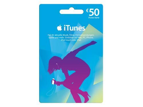iTunes Karten im Wert für 50€ für 40€