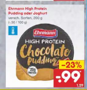 Ehrmann High Protein Pudding & Joghurt