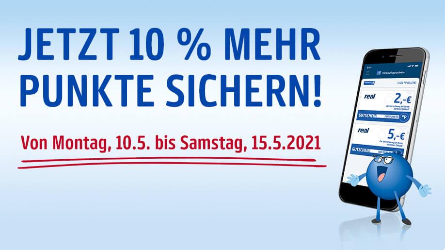 [Payback/real] 10% zurück bei Zahlung mit EInkaufsgutschein (10.05. - 15.05.) Effektiv 10% Rabatt auf alles