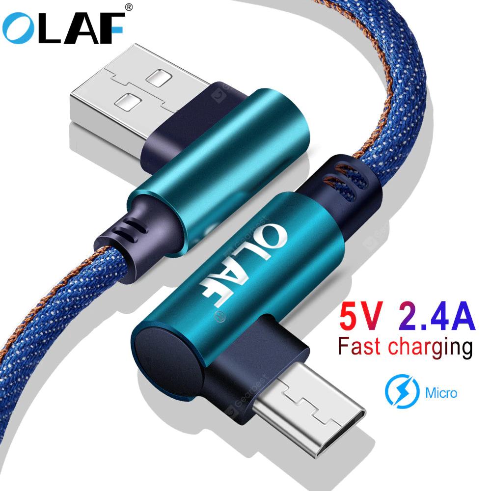 OLAF 5V 2.4A USB Type C, Micro oder IOS 25cm Kabel für 0,83€