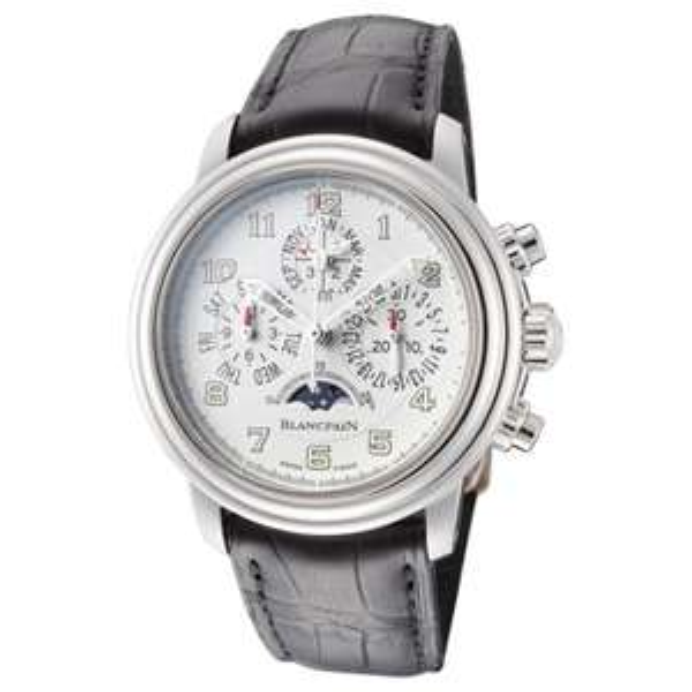 Blancpain Léman Flyback Chronograph - Swiss made Luxus Automatikuhr - 38mm - Ewiger Kalender - Mondphase