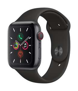 Apple Watch Series 5 (GPS + Cellular) 44mm Aluminiumgehäuse spacegrau Sportband schwarz