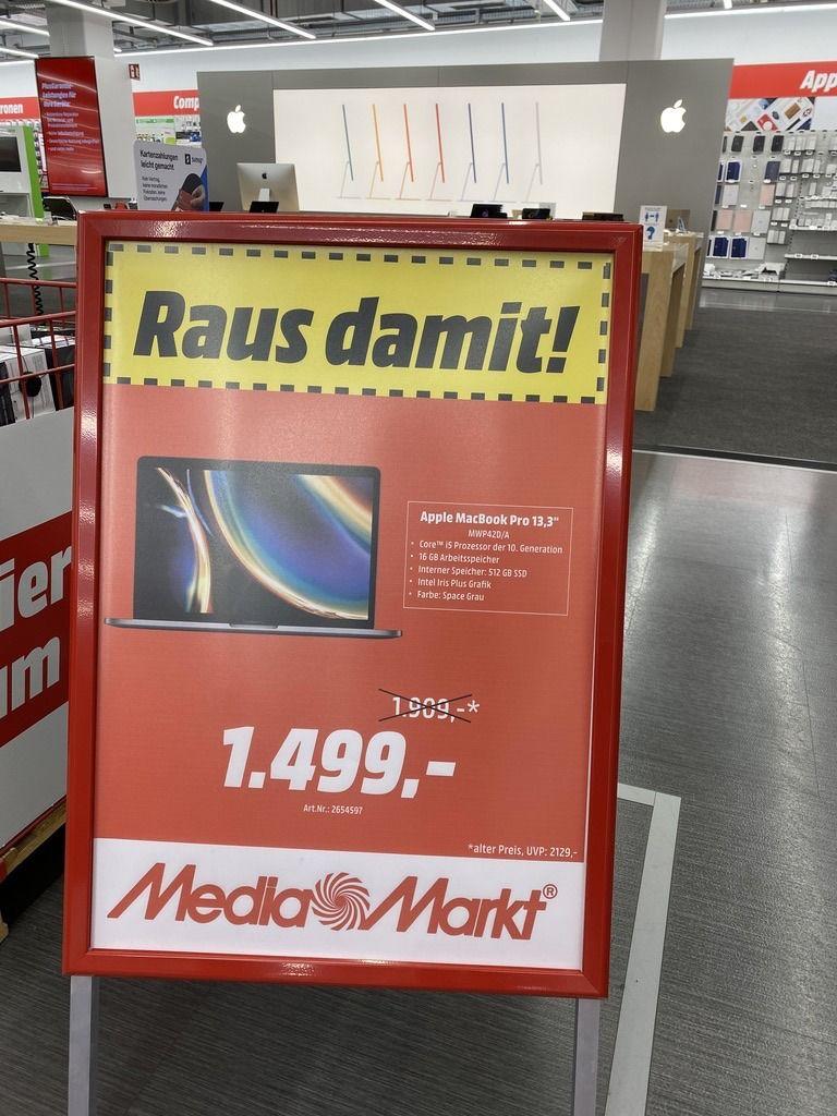 """Apple MacBook Pro 13.3"""" mit 16GB und 512 SSD Space Grey (Lokal Media Markt Alexa - Berlin Mitte)"""