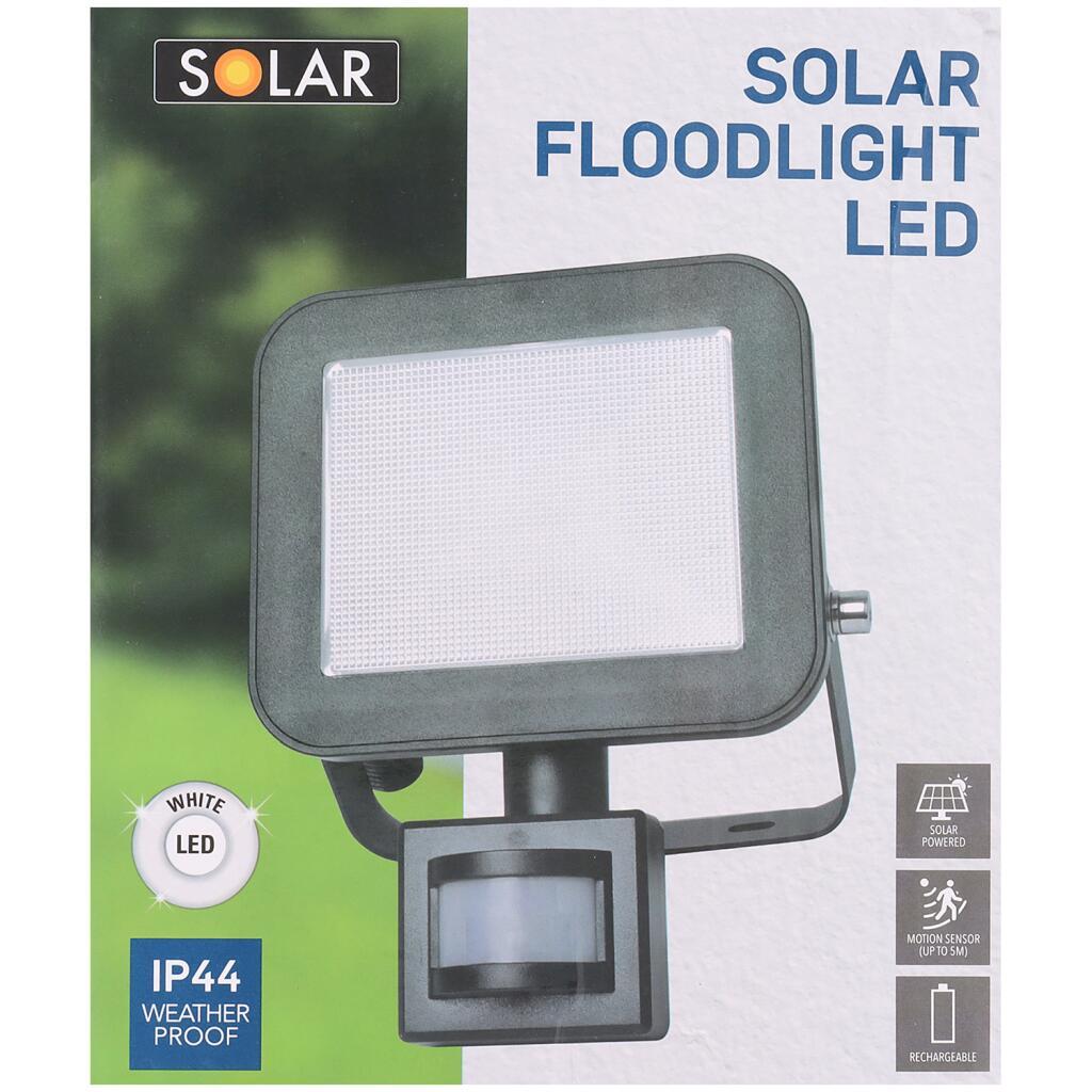 LED Akku-Strahler (700 lm) mit Solar Panel & Bewegungsmelder