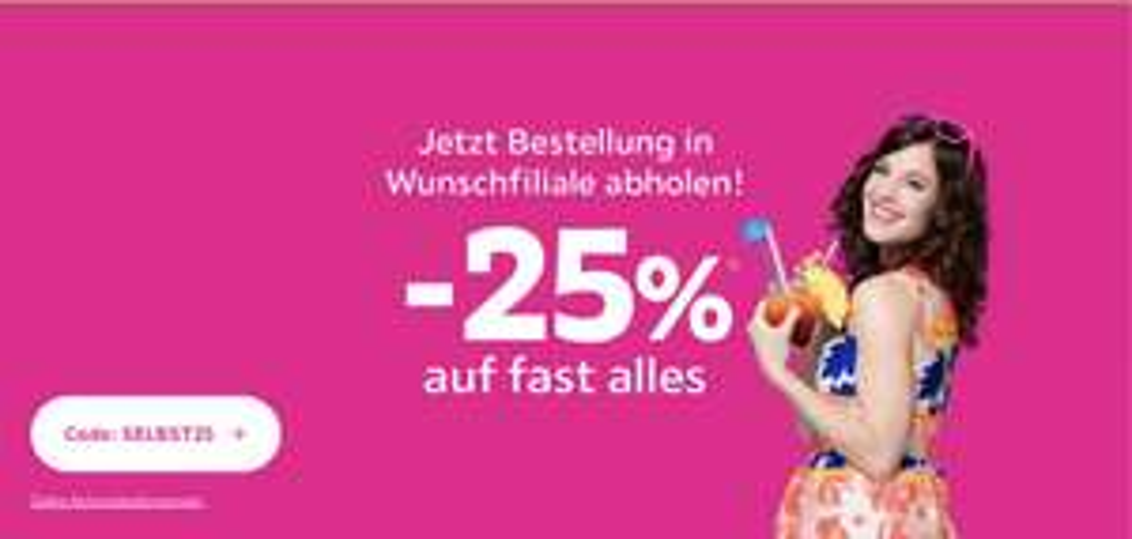 -25% auf fast alles