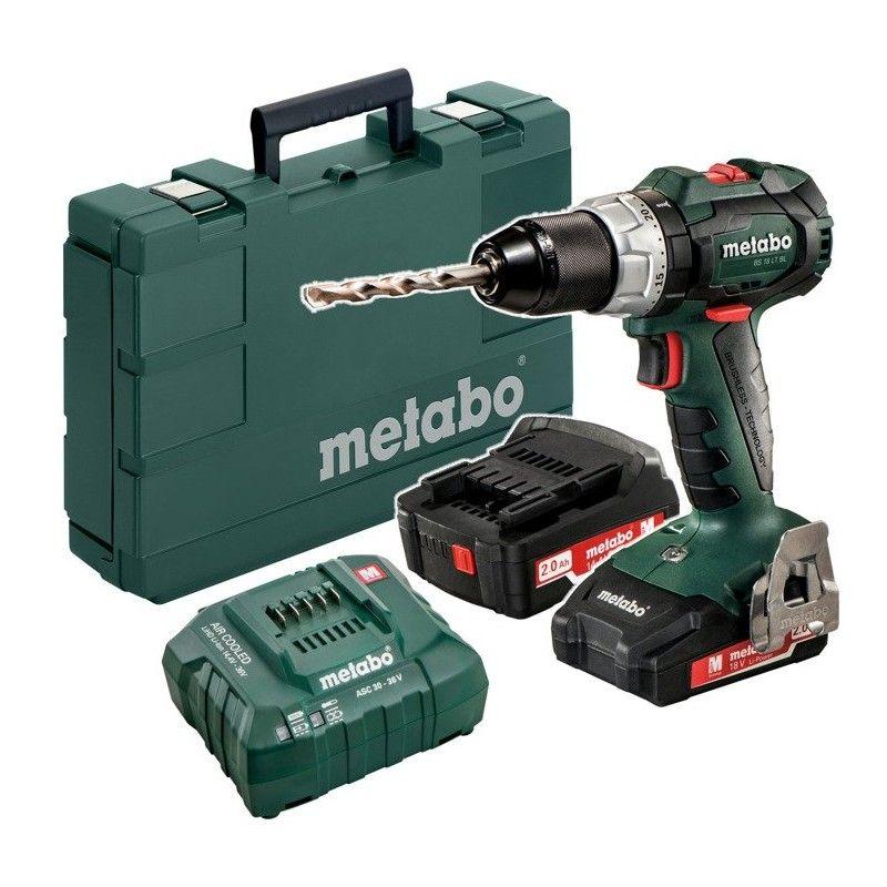 Metabo 18V Akku-Bohrschrauber BS 18 LT BL | 2x 2.0Ah Akks Li-Ion im Koffer