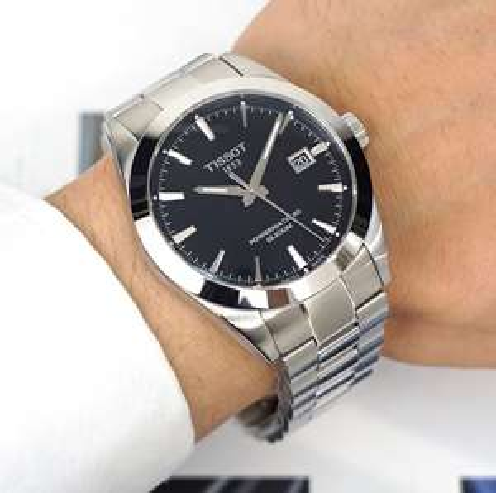 """Tissot """"Gentleman Powermatic 80 Silicium"""" schwarz und """"Luxury Powermatic 80"""" schwarz oder braun Automatikuhr"""