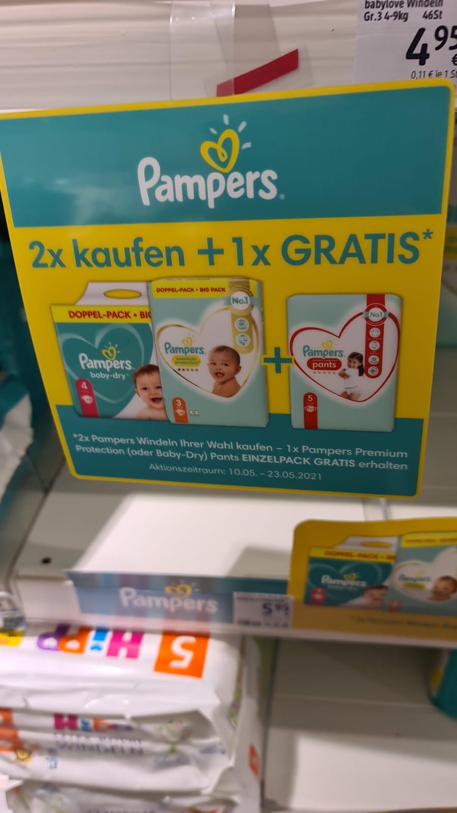 DM - 2 Pampers Packungen kaufen - 1x Pampers Pants geschenkt